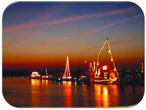 The Southport Christmas Flotilla, flowing from Southport Marina to Kingsley Park, will be the grand finale of Winterfest 2013. Courtesy photo