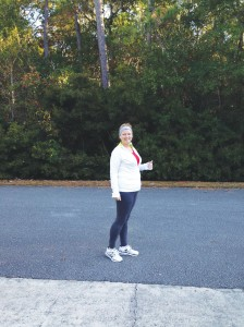 Diane Salyer is training for her first 5K race and would like to organize a 'Zombiethon' race for Southport. Courtesy photo