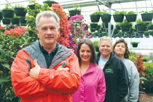 Owner Hal Bridgers and his staff (l. to r.), Cristina Beasley, Tina York and Kim Everhart. Photo by Kris Beasley