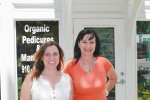 Laura Brochure and Irena Sedivy offer organic spa services at European Touch, a green spa in Southport. Photo by Kris Beasley