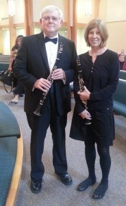 The Brunswick Concert Band Summer Series director Tom Smicklas with his wife, Margaret Smicklas. Courtesy photo