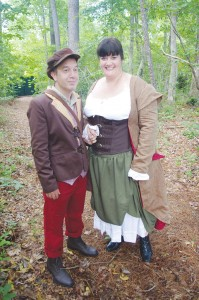 Michael Lauracella as the baker and Katie Deese as the baker's wife in Brunswick Little Theatre's production of 'Into the Woods.' Photo by Jeffrey Stites
