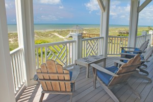 The house offers views of the Atlantic Ocean from Bald Head Island to Holden Beach. Photo by Bethany Turner
