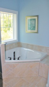 Master bathroom tub (separate standing shower). Photo by Bethany Turner