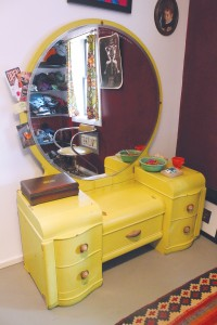 The dressing room vanity, from about the '40s. Photo by Bethany Turner