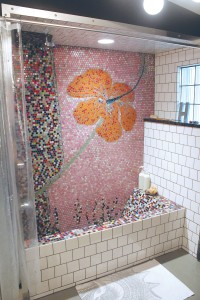 Meehan hand-tiled her mosaic tub with an original design of her own creation. Photo by Bethany Turner