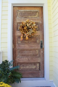 The front door, originating from the 1800s, was stripped by homeowner Frank Marchetti. Photo by Bethany Turner