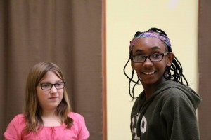 Katarina Gedman and Makyia Edwards will play Alice Wendleken and Maxine respectively in 'The Best Christmas Pageant Ever,' presented by Brunswick Little Theatre. Courtesy photo
