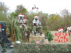 Wal-Mart joined the 2013 Christmas by the Sea parade in a special salute to the 'Duck Dynasty,' the popular Southern reality TV show, with an impressive float. Photo courtesy of the Southport-Oak Island Chamber of Commerce