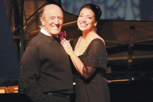 Pianist Emile Pandolfi with special guest and vocalist Dana Russell. Courtesy photo