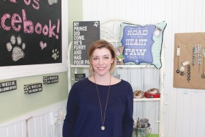 Johnna Jalot, owner of Four Legs Good Pet Boutique in Southport, has had a lifelong love for animals. Her shop offers fun and functional wares for dogs, cats and their owners. Photo by Kris Beasley