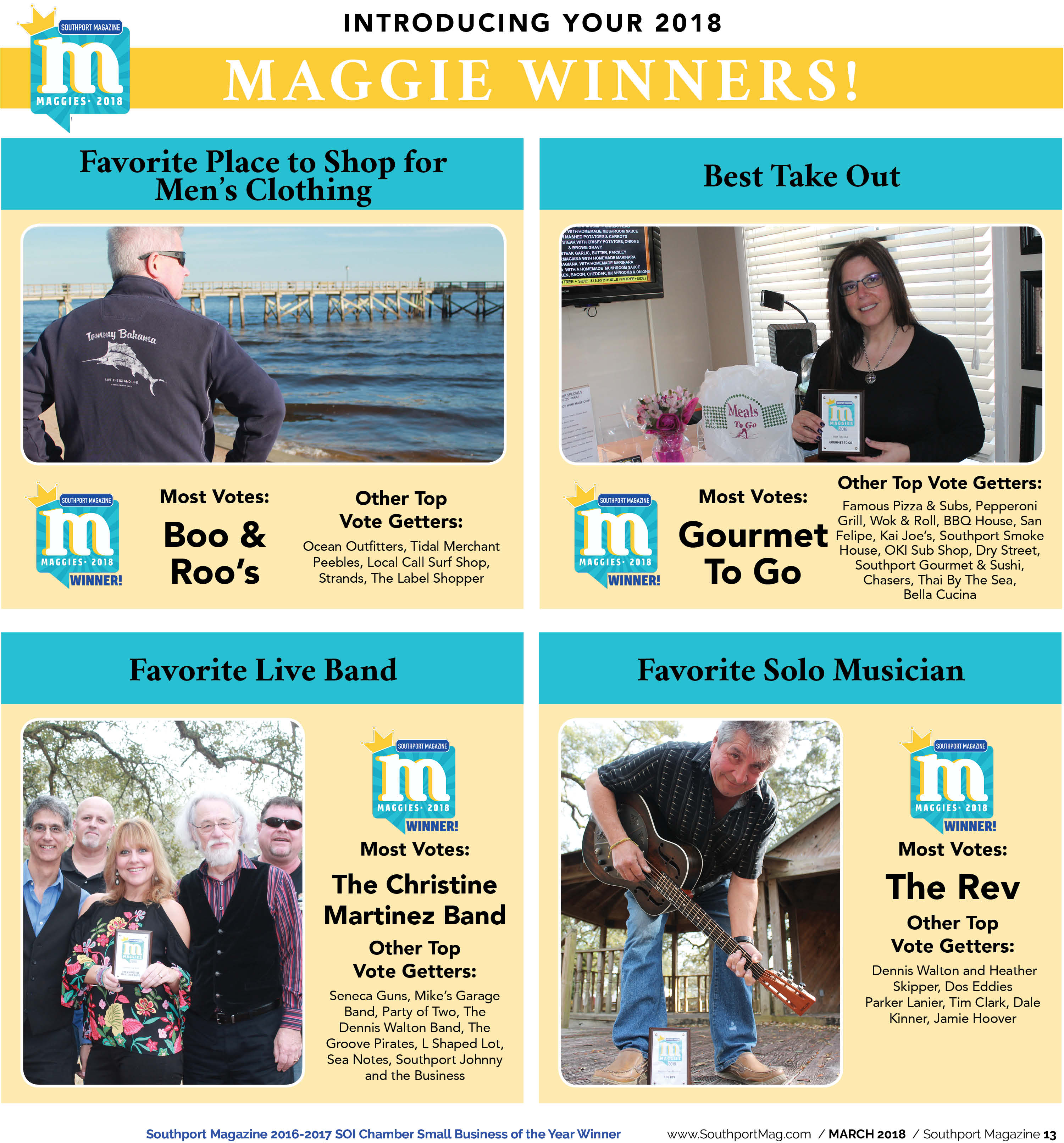 The Results are in, and the Maggie Goes to…   Southport Magazine