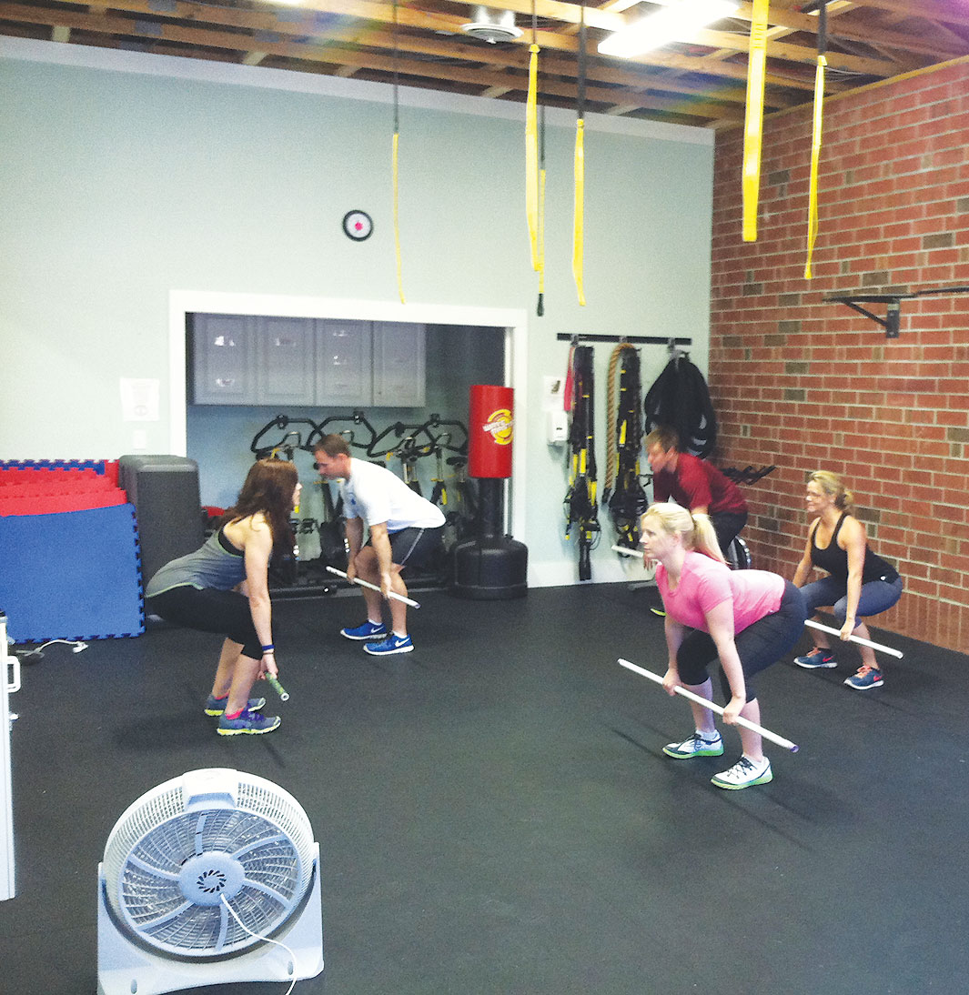Samantha Stephens Leads A Crossfit Class At Her Gym Cape Fear Fitness Photo By